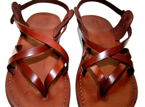 Mens Handmade Sandals - brown mix leather sandals for handmade unisex
