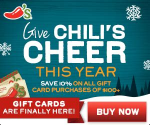 Chilis On The Border Gift Card - chili s macaroni grill on the border maggiano s save 10 on gift card purchases