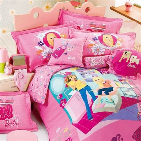 barbie bedroom refreshing and lively barbie bed sheet wins you over