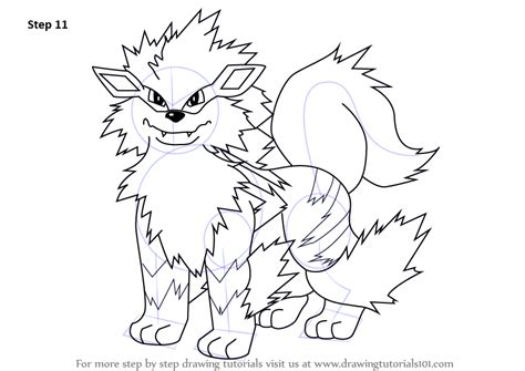 pokemon coloring pages arcanine learn how to draw arcanine from pokemon pokemon step by