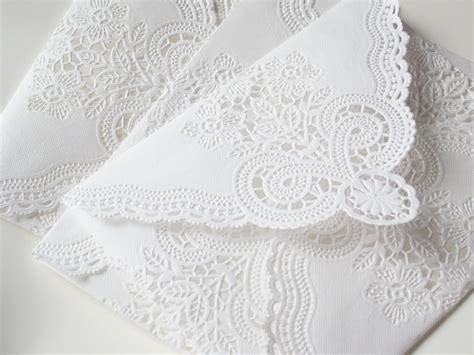 How To Make Paper Doily Envelopes - sale vintage lace envelopes vintage paper doily envelopes