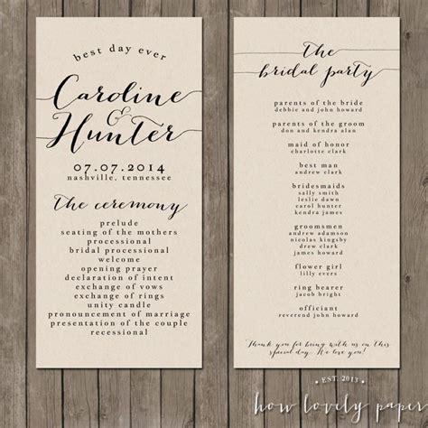 The Wedding Program by Printable Wedding Program The Bailey Collection 2418018
