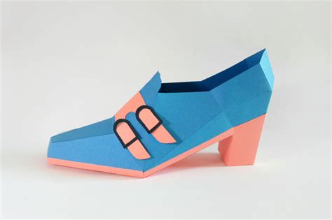 Papercraft Shoes - diy trouser shoe 3d papercraft by paper amaze