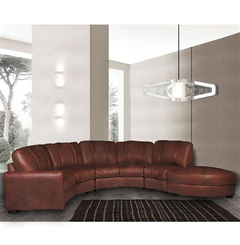 jonathan sectional curved sectional sofa  chestnut