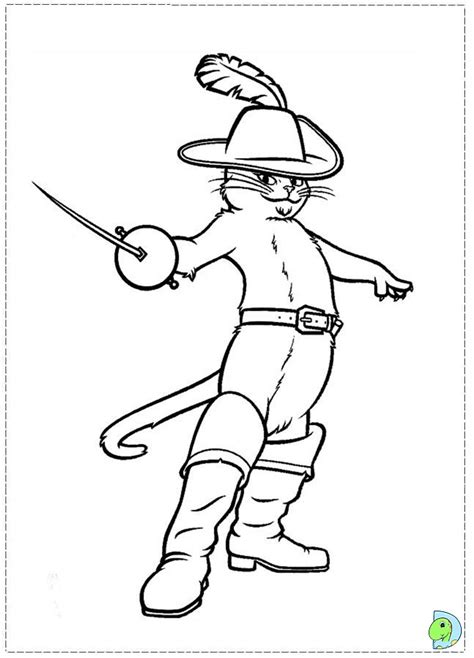 Puss In Boots Coloring Pages puss in boots 2 coloring pages