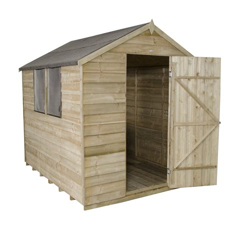 6 X 8 Wood Storage Shed by Forest Garden 6 X 8 Wooden Storage Shed Wayfair Uk