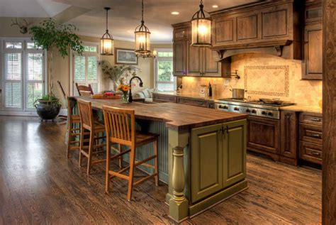 elegance country kitchen home interior decorating
