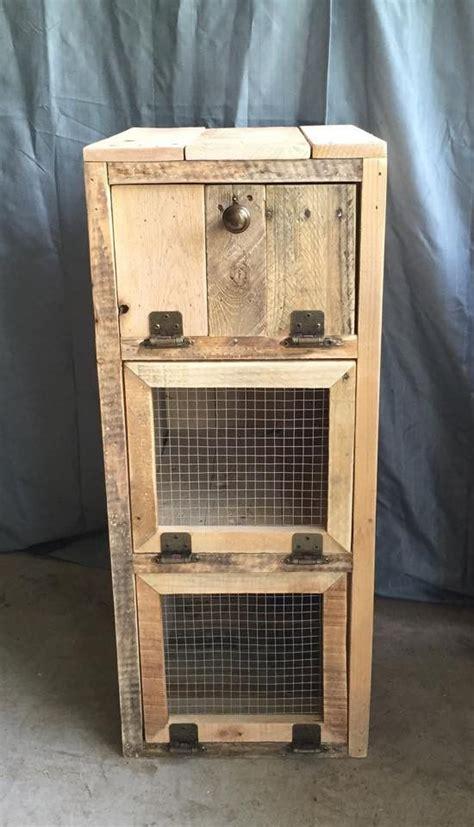 diy pallet trash can cabinet vegetable cabinet trash bins pallets and kitchens