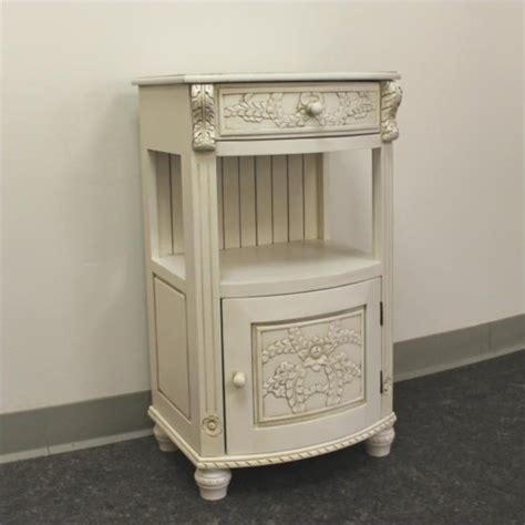 Telephone Table With Drawers by Drawer Telephone Accent Table In White 3973 Aw