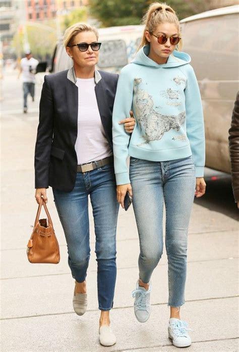 yolanda foster clothing jeans gigi and yolanda s twinning denim moment yolanda foster