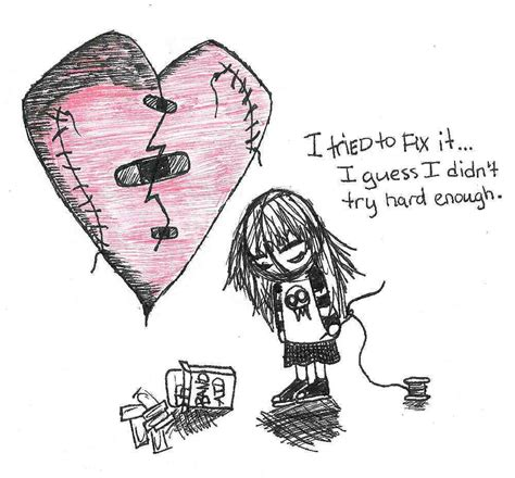 Sad Love Memes - broken heart by mooquie on deviantart