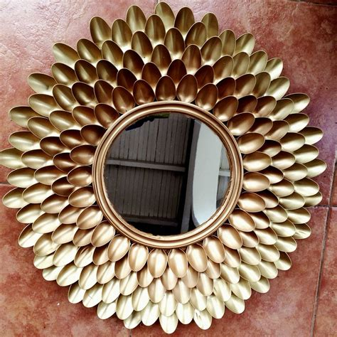 spoon mirror diy diy ombr 233 spoons mirror i attempted an ombr 233 look using gold and bronze spray paint tindi s