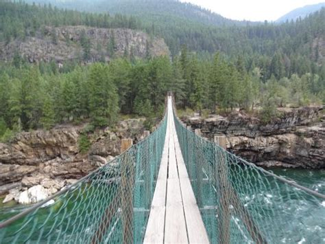 kootenai falls swinging bridge kootenai river swinging bridge picture of kootenai falls