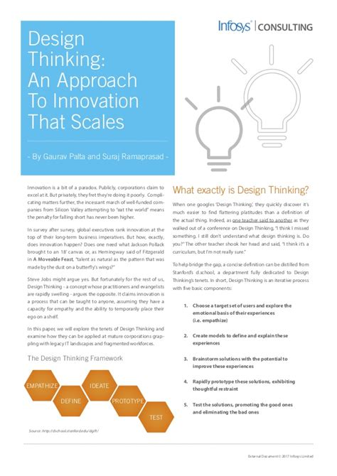 design thinking approach design thinking an approach to innovation that scales