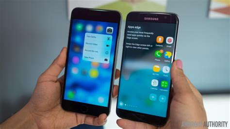samsung galaxy s7 edge vs iphone 6s plus android authority