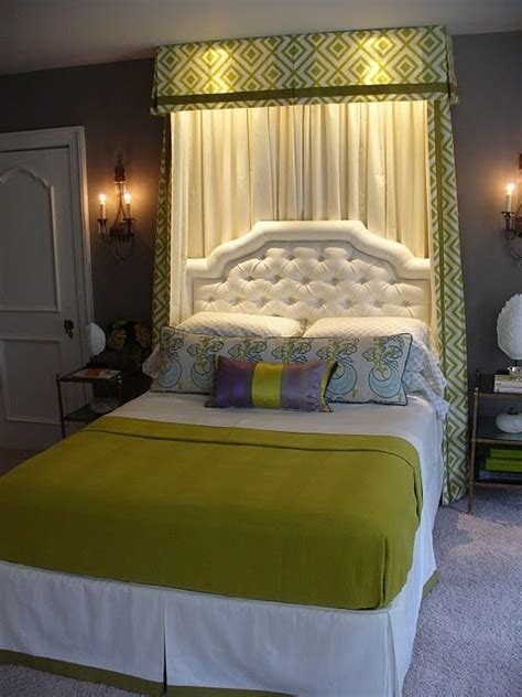 Curtain Headboards by 25 Best Ideas About Curtains Bed On Window Bed Curtain