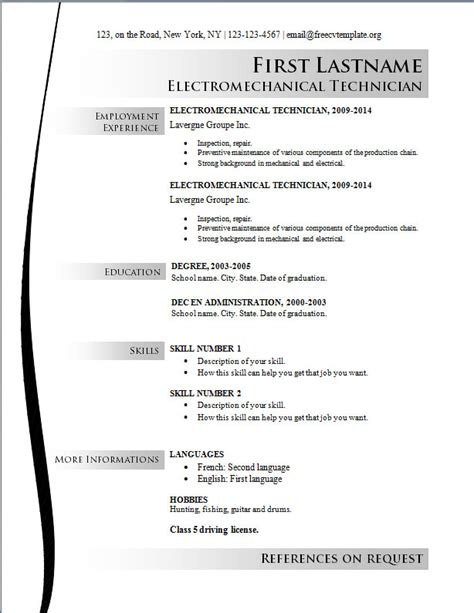 templates resume free resume templates archives writing resume sle