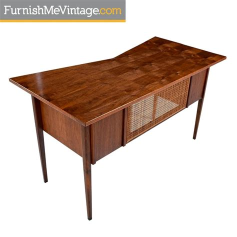 mid century modern walnut desk restored mid century scandinavian modern solid walnut top