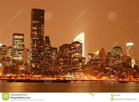 lighting stores midtown manhattan midtown manhattan skyline at night lights nyc stock photo