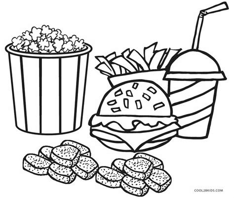 food coloring pages free printable food coloring pages for cool2bkids