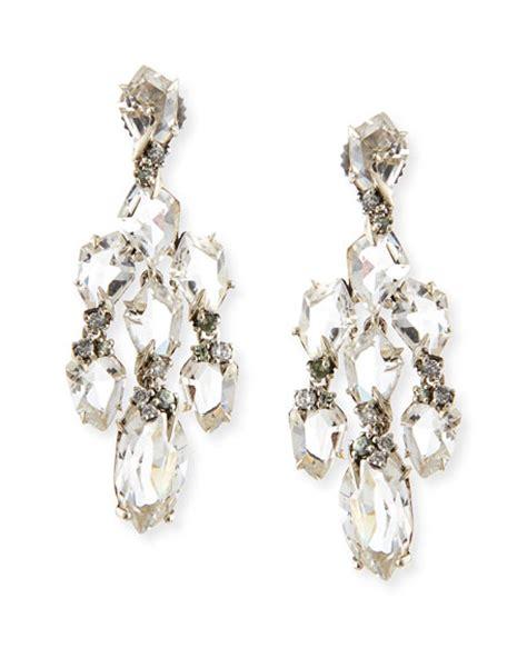 Small Chandelier Earrings Bittar Small Chandelier Earrings W Quartz Green Sapphire Diamonds