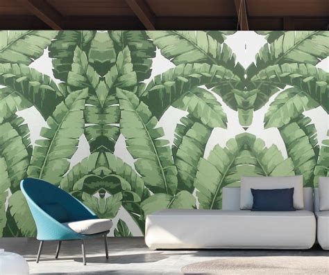 banana leaf wallpaper nz banana leaf simple large wall paper sticker factory