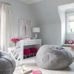 gray teenage girl bedroom teen girl desk with pink deck decor contemporary girl