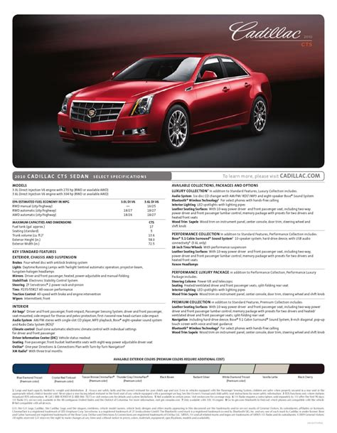 auto repair manual online 2010 cadillac cts electronic throttle control 2010 cadillac cts sedan brochure specs by ted sluymer issuu