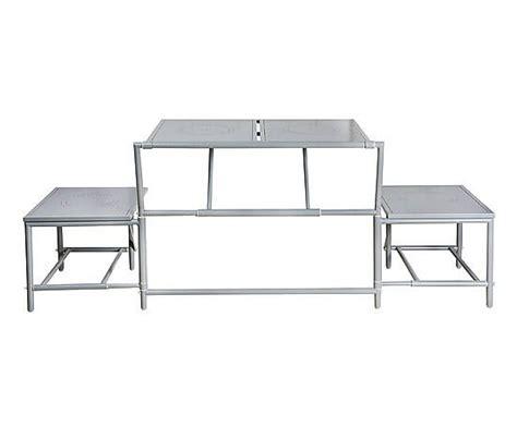 panchina pieghevole panchina pieghevole magic in metallo grigio 99x55x75 cm