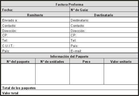 que es una factura proforma despachante de aduana uruguay despachante de aduanas en