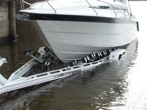 boat launch trailer endurotate rotational boat trailer bow first boat launch