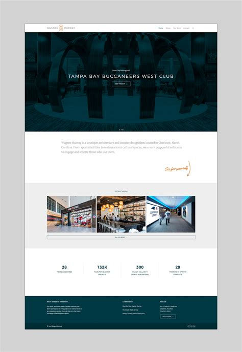 designing wagner murrays website moonlight creative