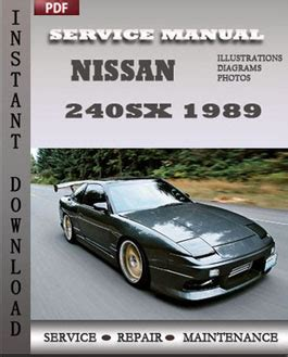 service repair manual free download 1997 nissan 240sx electronic throttle control nissan 240sx 1989 free download pdf repair service manual pdf