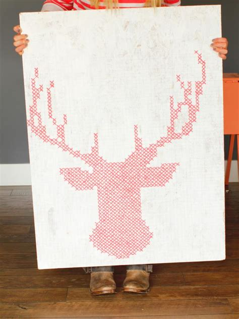 reindeer cross stitch pattern  instructions hgtv