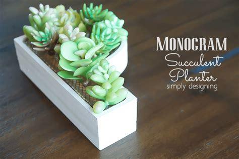 monogram planter monogram succulent planter