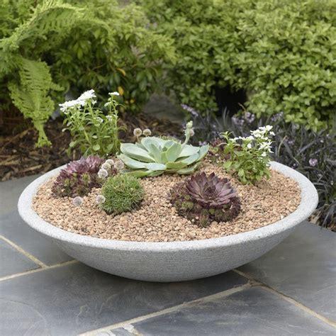 Low Planter by Varese Low Bowl Planter Stewart Garden