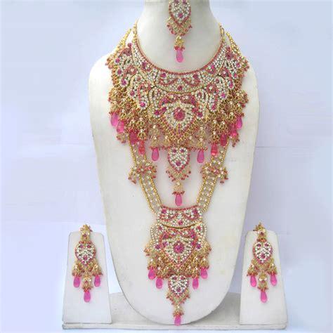 Set Perhiasan 17 pengiriman gratis halus perhiasan india set aksesoris
