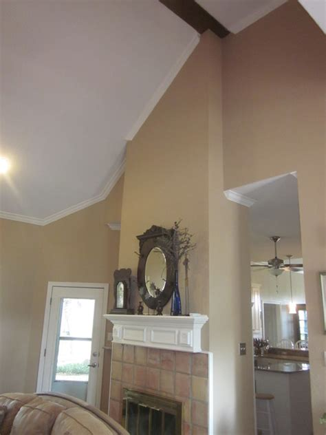 high ceiling living space traditional living room dallas by certapro painters of southlake