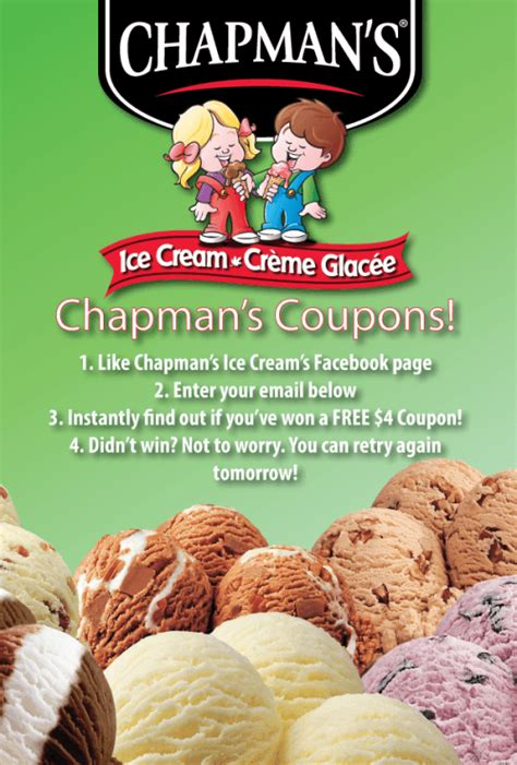 Win 500 Dollars Instantly - chapman s ice cream canada facebook contest instantly win