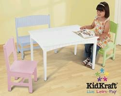 kidkraft table with pastel benches 26162 kidkraft nantucket table with bench and 2 chairs pastel