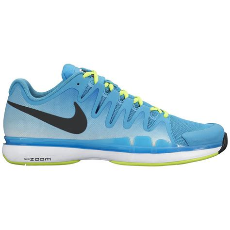 nike mens zoom vapor 9 5 tour tennis shoes blue yellow