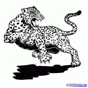 Drawings Of Jaguars How To Draw A Jaguar Animal Jaguar Cat Step By Step