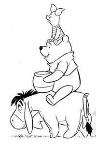 what color is eeyore yoarra s pooh coloring pages