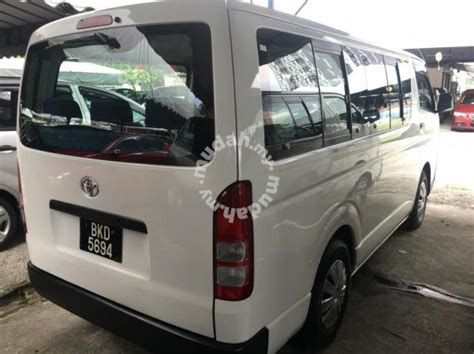 Toyota Hiace 2 5 M Low Roof Blacklist Boleh Loan Cars