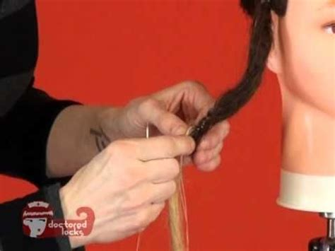 installing extension dreads in short hair dread diy how to install permanent dreadlock extensions