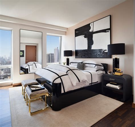 black and white bedroom with a pop of color 20 luxurious black white bedrooms designs with pictures