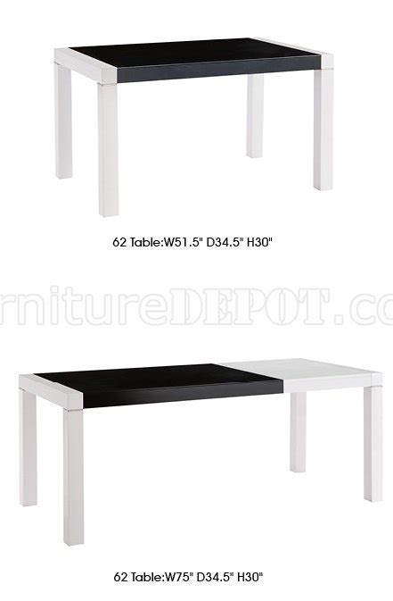 black finish modern dining table w optional side chairs white black finish modern extendable dining table w options