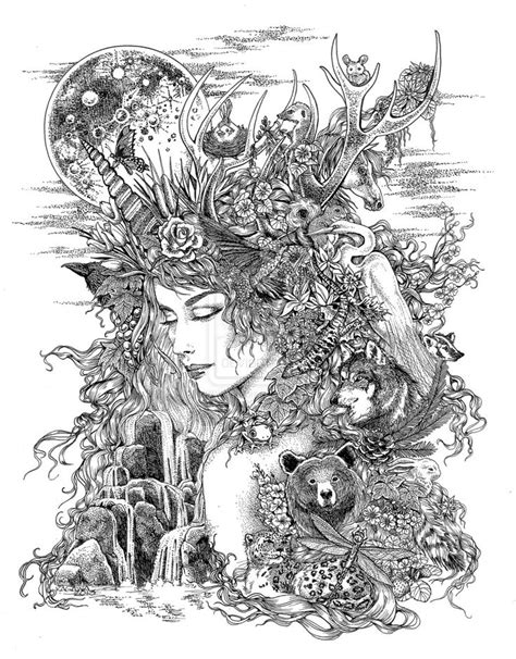 mother earth coloring page best 25 mother earth tattoo ideas on pinterest earth