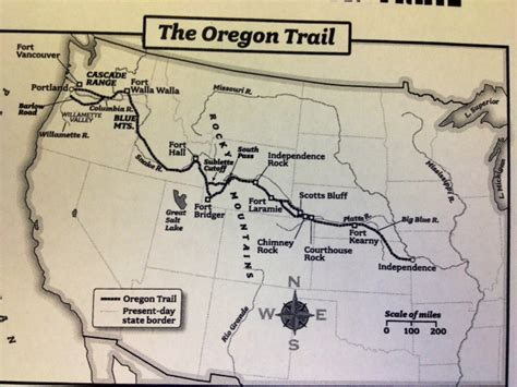 map of oregon trail homework miss griffin s 5th grade