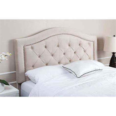 Discount Tufted Headboards by Abbyson Living Hillsdale Tufted Ivory Velvet Headboard